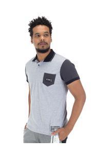Camisa Polo Fatal Pocket 18068 - Masculina - Cinza Claro