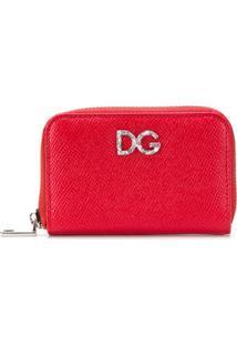 Dolce   Gabbana Carteira Pequena De Couro Com Zíper - Vermelho e33f795d4f
