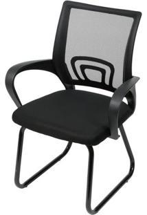 Cadeira Office Osorno Tela Mesh Preta Com Base Fixa Preta - 47252 - Sun House