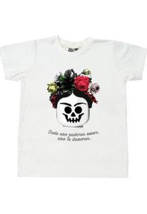 Camiseta Infantil Comfy Frida Feminina - Feminino-Branco
