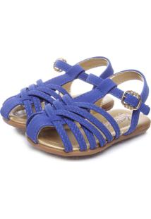 Sandália Infantil Klin Tiras Cruzadas Royal Lisa Azul