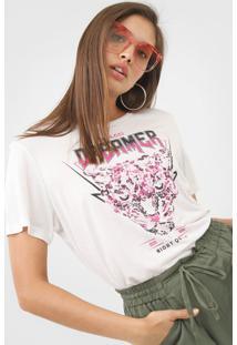 Camiseta Colcci Dreamer Off-White - Off White - Feminino - Viscose - Dafiti