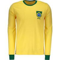 Camisa Brasil Retrô 1970 Manga Longa Masculina - Masculino 90ec174cb1328