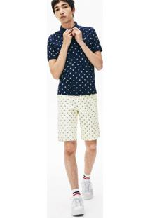Bermuda Lacoste Live Regular Fit Branco