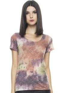 Camiseta Fernanda Almeida Boho - Feminino-Estampado