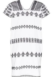 Pippa Holt Embroidered Kaftan Dress - Branco