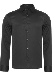 Camisa Masculina Stretch - Preto