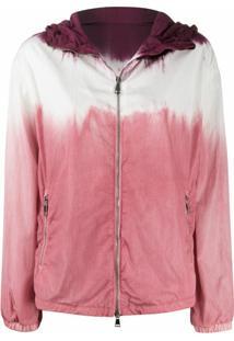 Moncler Jaqueta Com Estampa Tie Dye E Capuz - Rosa