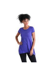Camiseta Feminina Evasê Levíssima - Roxo - Líquido