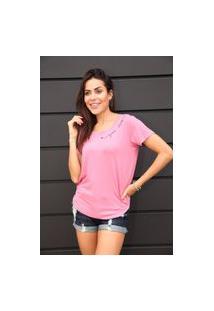 Camiseta Camarim 82 Good Vibes Rosa
