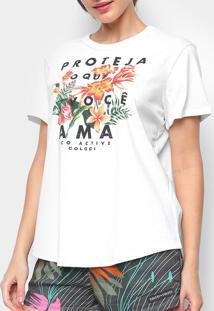 Camiseta Colcci Floral 034.57.00238 0345700238