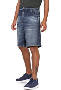 Bermuda Jeans Ellus 2Nd Floor Reta Adam Azul - Kanui