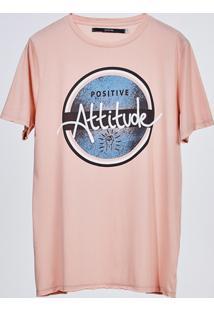 Camiseta Manga Curta Rose Estampada