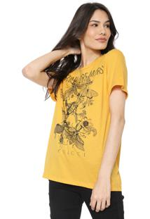 Camiseta Colcci Urban Dreamers Amarela