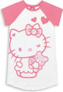 Camisola Mamãe E Filhinha Branco Hello Kitty