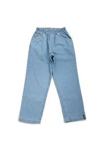Calça Jeans Masculina Com Elástico Clara