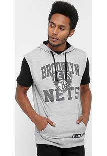 Colete Brooklin Nets Nba New Era Canguru Big Colege Masculino - Masculino