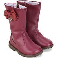 08b735a342 Bota Infantil Montaria Ortopé Baby Boot Feminina - Feminino-Vinho
