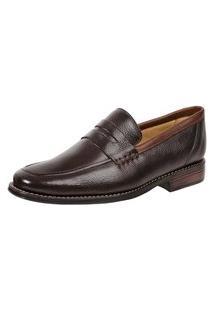 Sapato Social Loafer Sandro Moscoloni Alpis Marrom Escuro