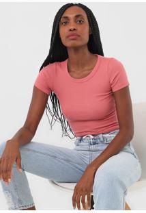 Camiseta Triton Canelada Rosa