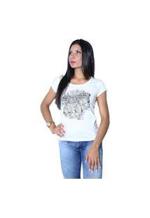 Camiseta Heide Ribeiro Estampada Zebra Cinza Mescla