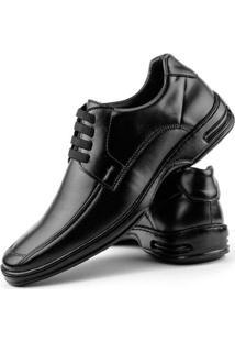 Sapato Conforto Dhl Elástico Masculino - Masculino-Preto
