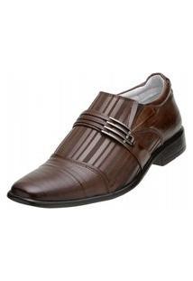 Sapato Social Alcalay Mogno Marrom
