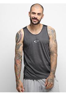 Camiseta Regata Oakley Dynamic Breathe Masculina - Masculino-Preto