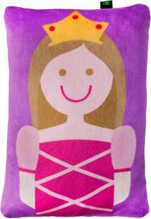 Travesseiro Princesa- Roxo & Pink- 5X28X19Cm- Hibright Starts