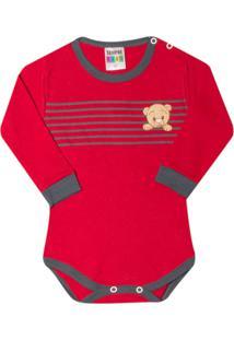 Body Sempre Kids Ursinho Vermelho