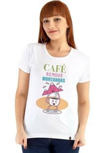 Baby Look Ouroboros Manga Curta O Poder Do Café - Feminino-Branco