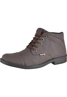 Bota Casual Cr Shoes Cano Médio Café