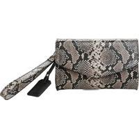 8977aa78f Bolsa Shoestock Clutch Snake Feminina - Feminino-Preto+Branco