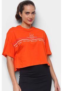 Camiseta Colcci Cropped Disney Donald Duck Feminina - Feminino