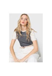 Camiseta Habana Lettering Cinza/Off-White