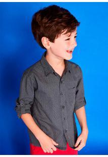 Camisa Infantil Menino Com Mangas Longas - Celebra Puc
