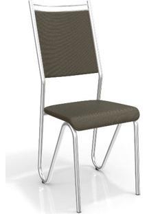 Conjunto 2 Cadeiras Kappesberg Crome Londres Marrom