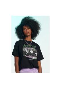 T-Shirt Alongada Preta Friends Athr