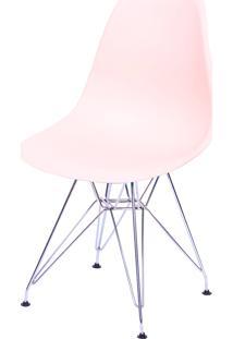 Cadeira Dkr Polipropileno E Base De Metal Pian – Salmão