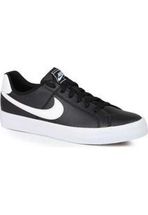 Tênis Casual Masculino Nike Court Royal Preto E Br