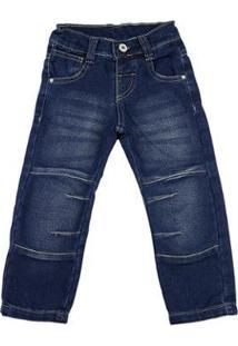 Calça Infantil Ano Zero Squash 309 Masculina - Masculino-Azul Escuro