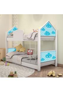 Beliche Infantil Casinha Prime Nuvem Menino Casah - Azul/Branco - Menino - Dafiti