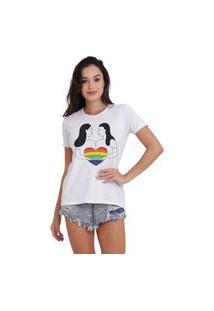 Camiseta Joss Básica Lgbt Um Só Coração Branca
