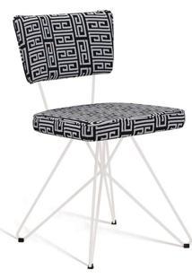 Cadeira Butterfly Retro Branco E Preto