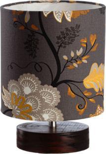 Luminária Bueno Floral Marrom
