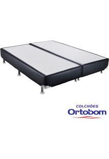 Box King - Corino Preto - Ortobom - 186X198X23