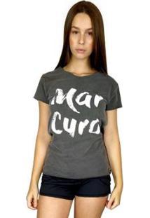 Camiseta Wss T-Shirt Feminina Mar Cura Chumbo - Feminino-Cinza
