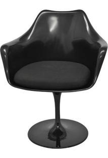 Cadeira Saarinen Com Braco Preto Base Giratoria - 40554 Sun House