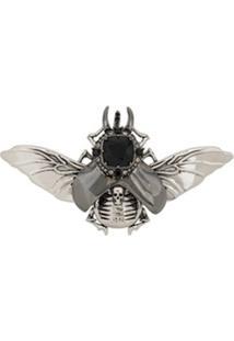 Alexander Mcqueen Bejeweled Beetle Brooch - Prateado