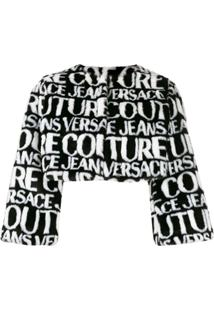 Versace Jeans Couture Logo Cropped Jacket - Preto